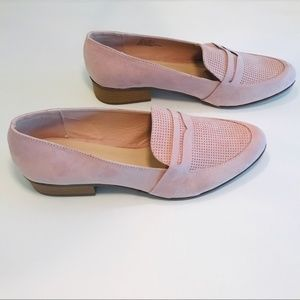 JustFab New Plush Pink Loafers